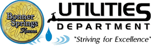 "Utilities Department Logo - ""Striving For Excellence"""