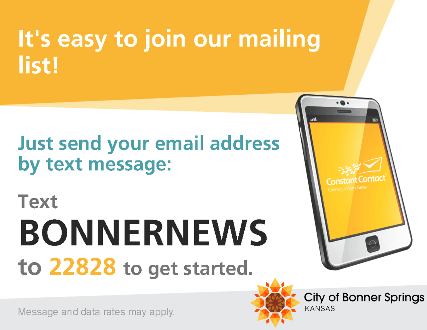 Text to Join Newsletter Signup