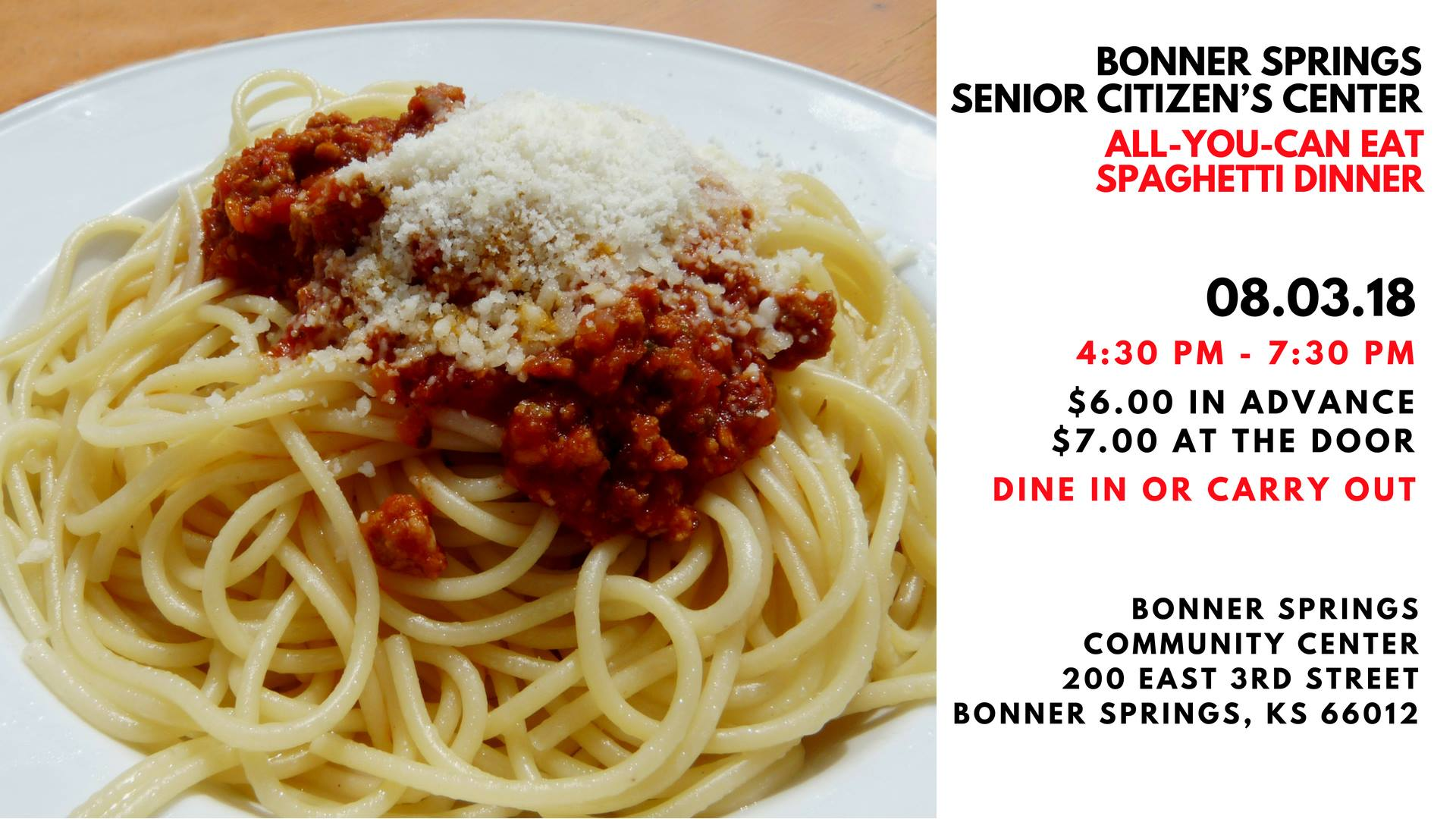 Senior Center Spaghetti Dinner
