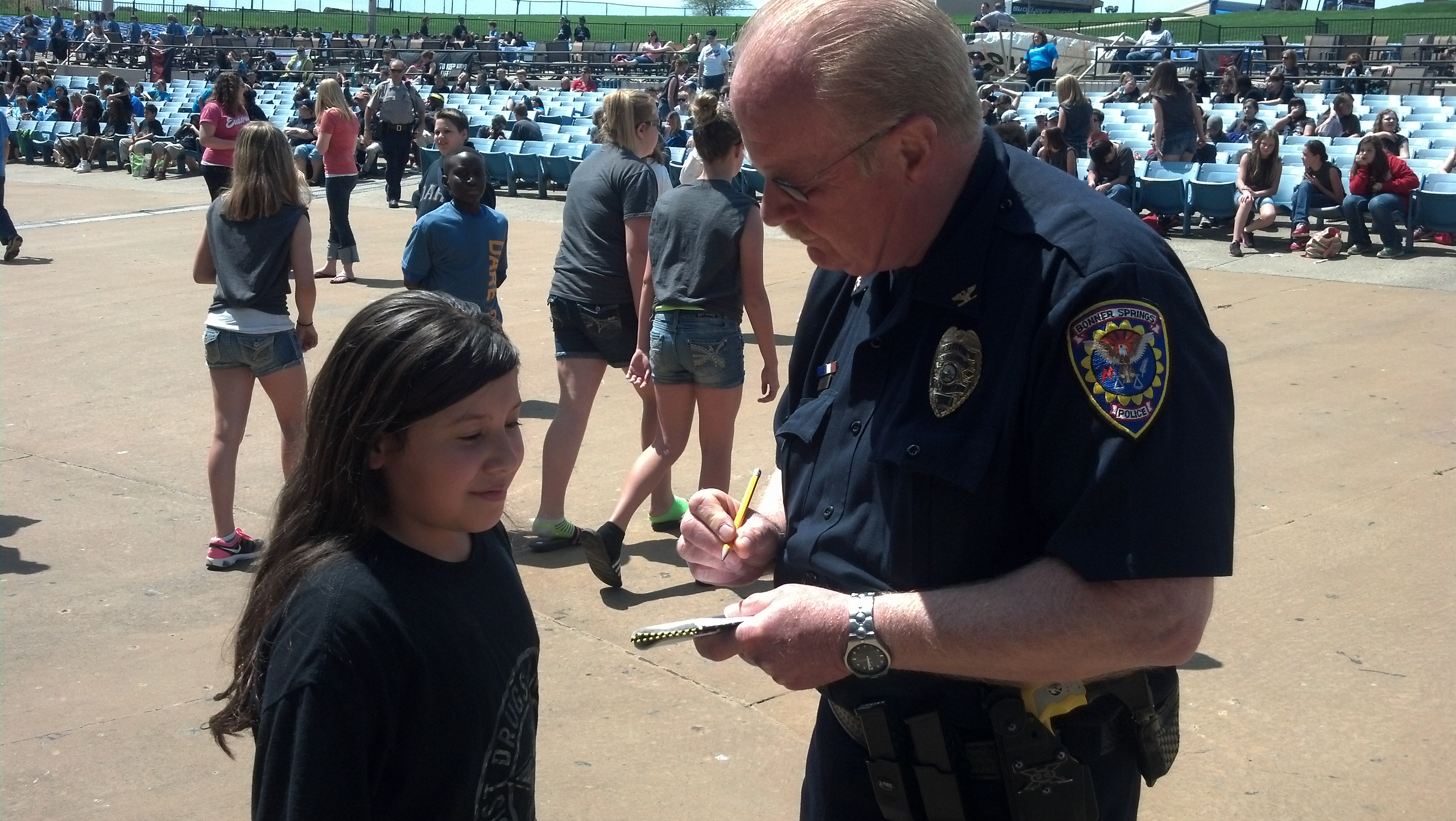 Chief Haley signing autograph