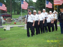 Cemetery VFW Present Colors