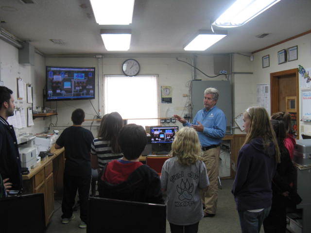 Rick Sailler instructs students